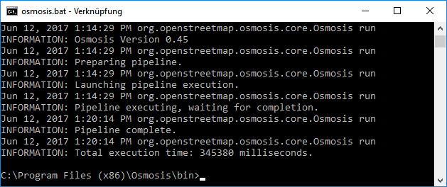 Setting up large scale OSM environments for R using Osmosis and
